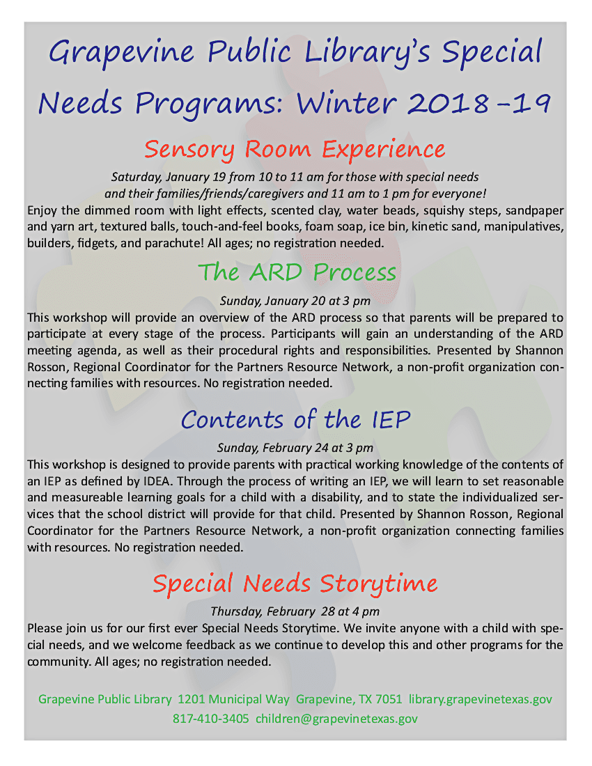 Special Needs Winter 2018
